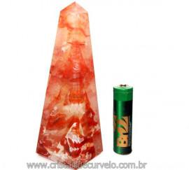 Obelisco Cristal Hematoide Pedra Natural Com Rajas Cod OH5094