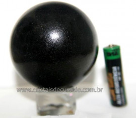 Esfera Pedra Quartzo Preto ou Quartzito Natural Cod BP4800