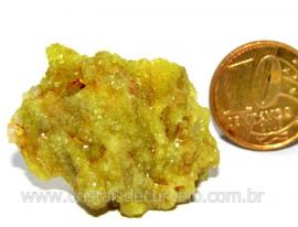 Mica Drusa Amarela Feldspato Pedra Bruta Natural Cod MA9064
