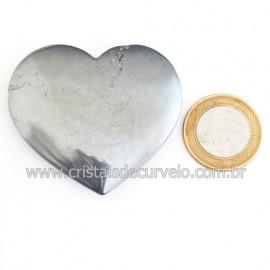 Coração Hematita Pedra Natural Lapidação Manual Cod 121884