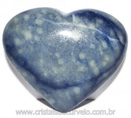Coração Quartzo Azul Pedra Natural de Garimpo Cod 114985