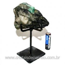 Esmeralda Canudo Pedra Natural com Suporte De Ferro Cod 119334