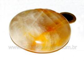 Massageador Disco Hematoide Amarelo Pedra Natural Cod MH6342