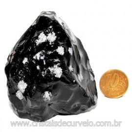 Obsidiana Flocos de Neve Pedra Vulcanica Natural Cod 114669
