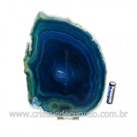 Chapa de Agata Azul Porta Frios Bandeja Pedra Natural 128762