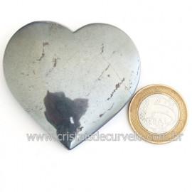 Coração Hematita Pedra Natural Lapidação Manual Cod 121750