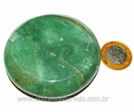Massageador Disco Quartzo Verde Pedra Natural Cod 103303