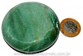 Massageador Disco Quartzo Verde Pedra Natural Cod 103302