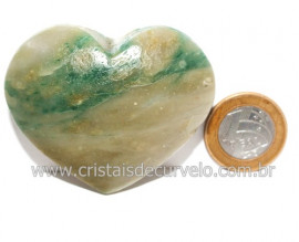 Coraçao Jade Verde Natural Origem Montes Claros MG Cod 121629