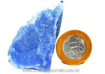 Quartzo Azul ou Aventurina Azul Pedra Bruto Natural Cod QA9034