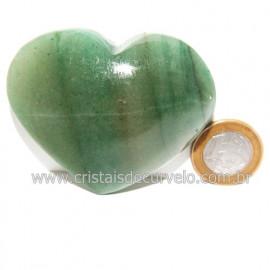 Coração Quartzo Verde Natural Comum Qualidade Cod 119825