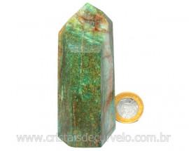Ponta Fuxita Verde Pedra Natural Mineral Garimpo Cod PF8029