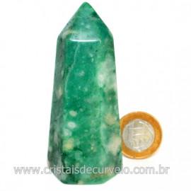 Ponta Jade Verde Extra Lapidado Pedra Natural Garimpo Cod 126758