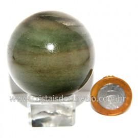Esfera Quartzo Verde Pedra Natural Bola Lapidado Cod 118804