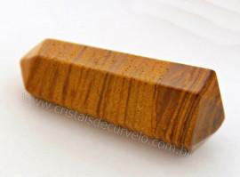 Bi Terminado JASPE AMARELO Pedra Extra Lapidado Tamanho Mini 2.5  Cm