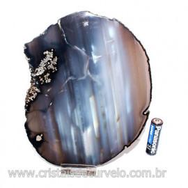 Chapa de Agata perta Porta Frios Bandeja Pedra Natural 123427