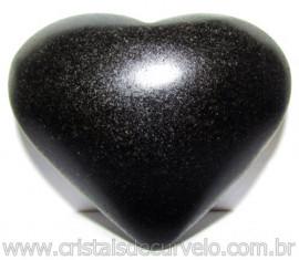 Coraçao Quartzo Preto Quartzito Negro Natural Cod 115327