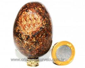 Ovo Bronzita Natural Mineral de Rocha Lapidado Manual Cod OB2746