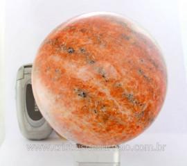 Esfera Calcita Laranja Bola Grande Rocha Mineral Pedra Laranja Cod 2.492