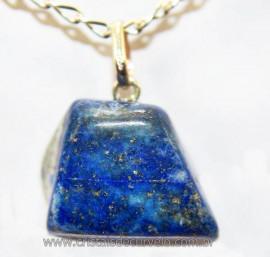 Pingente Pedrinha Lapis Lazuli Montagem Prata 950 Reff 106488