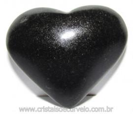 Coraçao Quartzo Preto Quartzito Negro Natural Cod 115331