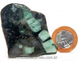Esmeralda da Bahia Chapa Lapidado Extra Natural Cod 106261