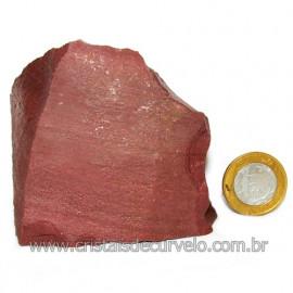 Dolomita Vermelha Pedra Natural Bruto de Garimpo Cod116157