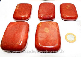 10 Massageador Sabonete Pedra Quartzo Vermelho 6 a 8cm Terapeutica