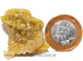 Mica Drusa Amarela Feldspato Pedra Bruta Natural Cod 111142