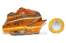 Olho de Tigre Pedra Extra Bruto Natural da Africa Cod OT3328