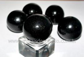 01 Mini Bola Cristal Negro Esfera Pedra Natural e Pequena Reff 14.7