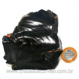 Obsidiana Negra Mineral Vulcanico Pedra Natural Cod 123970