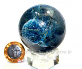 Esfera Apatita Azul Pedra Natural Grupo do Fosfato cod BA8579