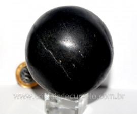 Esfera Basalto Preto Pedra Natural de Garimpo Com Lapidação Manual Cod 510.5