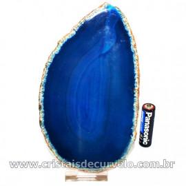 Chapa de Àgata Azul Porta Frios Bandeja Pedra Natural 126713