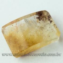 Rutilo Gema Baguette Natural Para Montar Prata e Ouro 112749