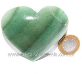 Coração Quartzo Verde Natural Comum Qualidade Cod 119838