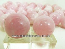 02 Mini Bola Quartzo Rosa Esfera Pequena Em Pedra Natural KIT