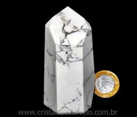 Ponta Howlita Lapidado Pedra Natural de Garimpo Cod PH7913