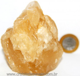 Calcita Mel Pedra Natural P/ Coleção e Esoterismo Cod 106627