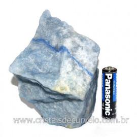 Quartzo Azul ou Aventurina Azul Bruto Natural Cod 123182