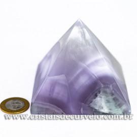 Pirâmide GRANDE Pedra Fluorita Natural Queops cod 120720