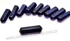 Bi Terminado Pedra Estrela Azul Extra Lapidado Tamanho Mini 2.5  Cm