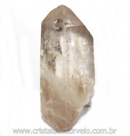 Ponta Cristal Fume Bruto Gerador Sextavado Natural Cod 114894