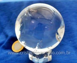 Esfera Bola de Cristal Pedra Quartzo Extra Transparente Tamanho M Cod 660.5