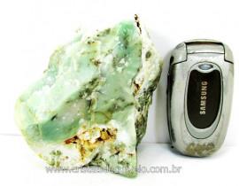 Pirofilita Verde Com Dendrita  Pedra de Garimpo Bruto Ideal Colecionador Cod 601.6