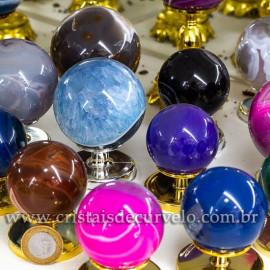 01 Kg Esfera Bola Agata Mista Pedra Natural ATACADO 112703