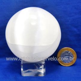 Esfera Selenita Pedra Extra Natural Tamanho Medio cod 123884