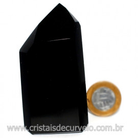 Ponta Obsidiana Negra Mineral Vulcanico Natural Cod 126085