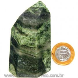 Ponta Epidoto Verde Na Matriz Ideal Para Coleção Cod 113180
